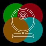 Τηλεοπτικό έκκεντρο Ιστού - εικονίδιο καμερών συνομιλίας, διάνυσμα webcam ελεύθερη απεικόνιση δικαιώματος