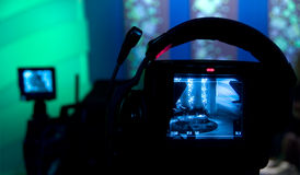 τηλεοπτικό σκόπευτρο φωτογραφικών μηχανών Στοκ εικόνες με δικαίωμα ελεύθερης χρήσης