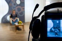 τηλεοπτικό σκόπευτρο φωτογραφικών μηχανών Στοκ Εικόνες