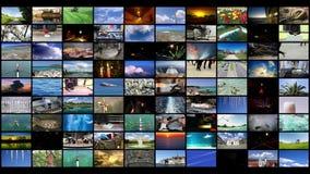 Τηλεοπτικό υπόβαθρο τοίχων της μεγάλης οθόνης απόθεμα βίντεο
