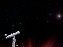 τηλεσκόπιο αστεριών νυχτ Διανυσματική απεικόνιση
