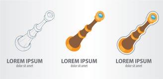 Τηλεσκόπιο λογότυπων Στοκ φωτογραφία με δικαίωμα ελεύθερης χρήσης