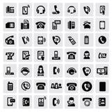 Τηλεφωνικά εικονίδια Στοκ φωτογραφία με δικαίωμα ελεύθερης χρήσης