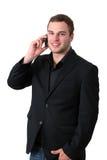 τηλεφωνικές ομιλούσες νεολαίες ατόμων σακακιών Στοκ Εικόνες