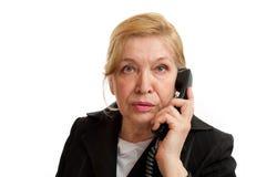 τηλεφωνική ανώτερη ομιλ&omicron Στοκ Εικόνες