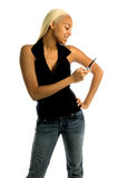 τηλεφωνική αστική γυναίκ&al Στοκ Εικόνα