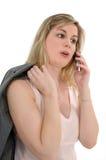 τηλεφωνική γυναίκα κυττάρων Στοκ Φωτογραφίες