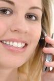 τηλεφωνική γυναίκα κυττάρων Στοκ Εικόνες