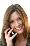 τηλεφωνική γυναίκα κυττά&r Στοκ φωτογραφία με δικαίωμα ελεύθερης χρήσης
