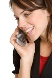 τηλεφωνική γυναίκα κυττά&r Στοκ Φωτογραφίες