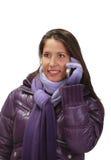 τηλεφωνική γυναίκα Στοκ Φωτογραφίες