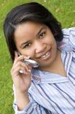 τηλεφωνική γυναίκα στοκ φωτογραφία με δικαίωμα ελεύθερης χρήσης