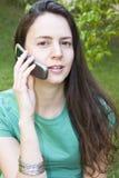 τηλεφωνική γυναίκα Στοκ Εικόνα