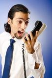 τηλεφωνική ομιλία επιχε&io Στοκ Φωτογραφίες