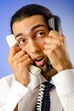 τηλεφωνική ομιλία επιχε&io Στοκ Φωτογραφία