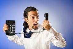 τηλεφωνική ομιλία επιχε&io Στοκ εικόνα με δικαίωμα ελεύθερης χρήσης