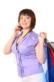 τηλεφωνική ομιλία κοριτ&sig στοκ εικόνα με δικαίωμα ελεύθερης χρήσης