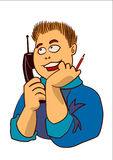 τηλεφωνική ομιλία προσώπ&omega Στοκ εικόνες με δικαίωμα ελεύθερης χρήσης