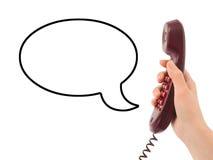 τηλεφωνική ομιλία χεριών φ Στοκ Φωτογραφία