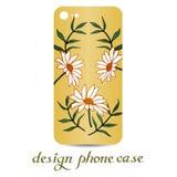 Τηλεφωνική περίπτωση σχεδίου Οι τηλεφωνικές περιπτώσεις είναι floral που διακοσμούνται διακοσμητικός τρύγος στ&o ελεύθερη απεικόνιση δικαιώματος