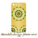 Τηλεφωνική περίπτωση σχεδίου Mandala διακοσμητικά στοιχεία διανυσματική απεικόνιση