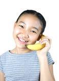 τηλεφωνική σειρά μπανανών Στοκ Εικόνες