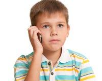 τηλεφωνική σοβαρή ομιλία  στοκ εικόνα με δικαίωμα ελεύθερης χρήσης