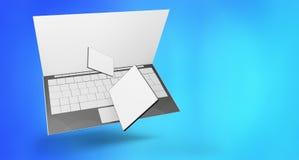 Τηλεφωνική τρισδιάστατος-απεικόνιση υπολογιστών ταμπλετών υπολογιστών διανυσματική απεικόνιση