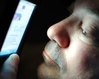 τηλεφωνική χρησιμοποίησ&eta Στοκ φωτογραφίες με δικαίωμα ελεύθερης χρήσης