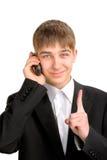 τηλεφωνικός έφηβος Στοκ Εικόνες