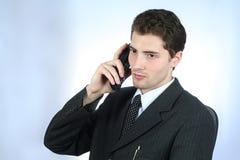 τηλεφωνικός λευκός εργαζόμενος περιλαίμιων Στοκ Εικόνα