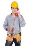 τηλεφωνικός ομιλών εργα&ze Στοκ φωτογραφία με δικαίωμα ελεύθερης χρήσης