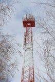 Τηλεφωνικός πύργος κυττάρων Στοκ εικόνες με δικαίωμα ελεύθερης χρήσης