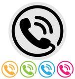 Τηλεφωνικό εικονίδιο Στοκ φωτογραφία με δικαίωμα ελεύθερης χρήσης
