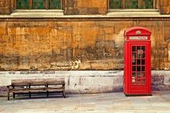 τηλεφωνικό κόκκινο κιβω&tau Στοκ Εικόνα
