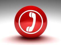τηλεφωνικό κόκκινο κουμ& διανυσματική απεικόνιση