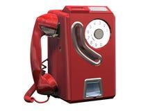 τηλεφωνικό κόκκινο Απεικόνιση αποθεμάτων
