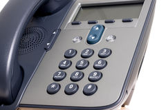 τηλεφωνικό λευκό ανασκόπ στοκ φωτογραφία