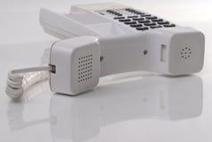 τηλεφωνικό λευκό Στοκ Εικόνες