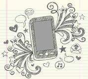 τηλεφωνικό περιγραμματικό διάνυσμα pda κυττάρων doodles Στοκ εικόνες με δικαίωμα ελεύθερης χρήσης