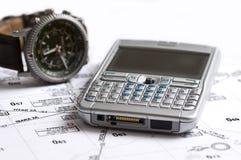 τηλεφωνικό ρολόι χαρτών Στοκ φωτογραφία με δικαίωμα ελεύθερης χρήσης