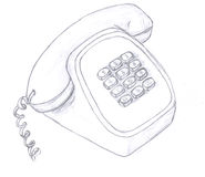 τηλεφωνικό σκίτσο Στοκ Φωτογραφία