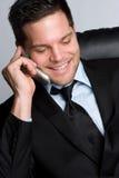 τηλεφωνικό χαμόγελο ατόμ&ome Στοκ φωτογραφία με δικαίωμα ελεύθερης χρήσης