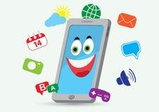 τηλεφωνικό χαμόγελο Στοκ εικόνες με δικαίωμα ελεύθερης χρήσης