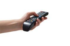 Τηλεχειρισμός TV διαθέσιμος Στοκ εικόνα με δικαίωμα ελεύθερης χρήσης