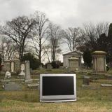 τηλεόραση νεκροταφείων Στοκ Εικόνες