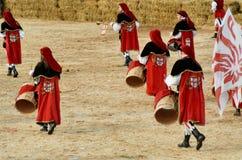 Την έναρξη της έκθεσης τρουφών στη Alba (Cuneo), έχουν ισχύσει για περισσότερο από 50 έτη, η φυλή γαιδάρων Στοκ Φωτογραφίες