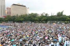 Την 1η Ιουλίου Χονγκ Κονγκ βαδίζει το 2014 Στοκ Εικόνα