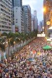 Την 1η Ιουλίου Χονγκ Κονγκ βαδίζει το 2014 Στοκ φωτογραφία με δικαίωμα ελεύθερης χρήσης