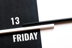 Την Παρασκευή 13 του μηνός, μονοχρωματική έννοια Στοκ Εικόνες